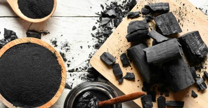 carvão triturado