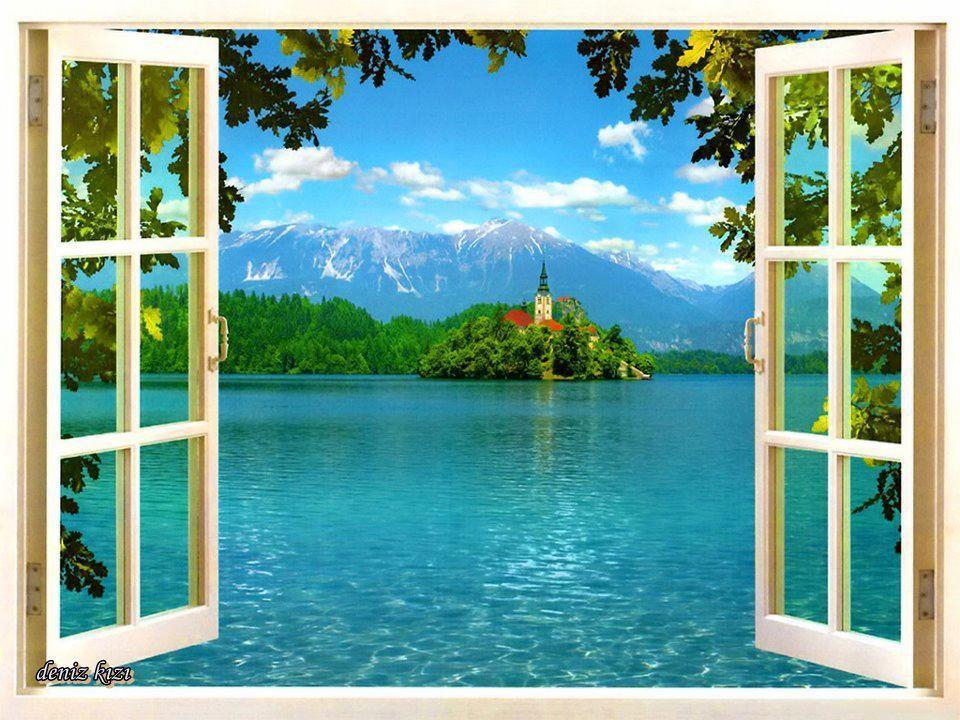 janela e castelo