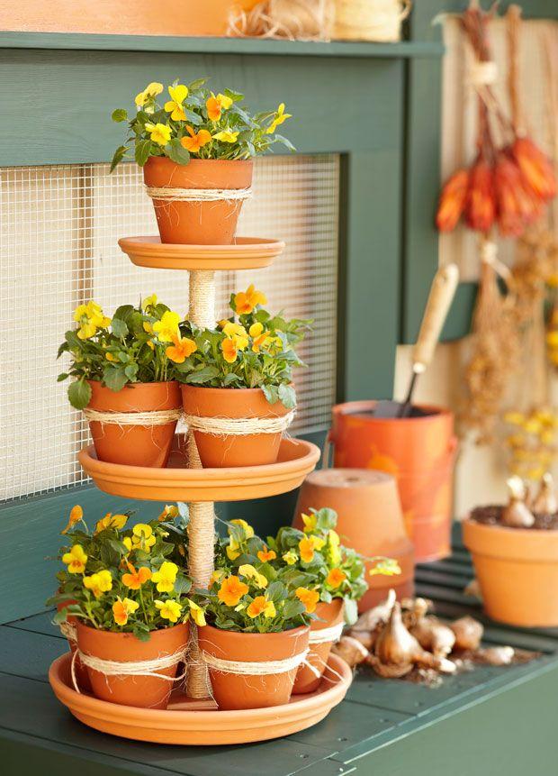 jardim de vasos