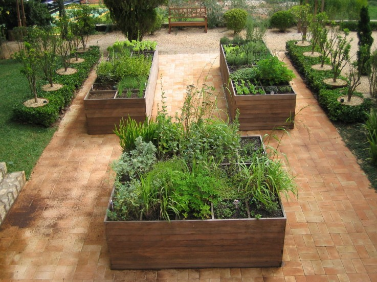 jardim em caixas